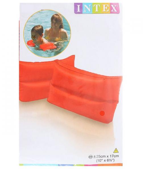 ИНТЕКС  59642 Нарукавники надув. 25х17см Неон оранж., от 6-12 лет в. п 25х16х1. 0см 1. 36