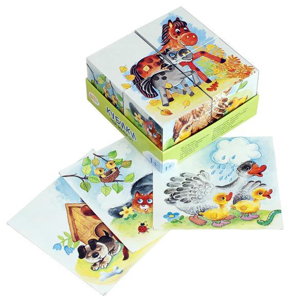 Steppuzzle  Baby Step Кубики 4шт. 87330 Чей малыш?
