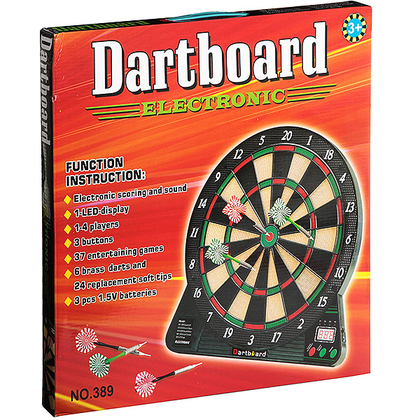 Дартс 389 Dartboard electronic 45*44*4см в/к