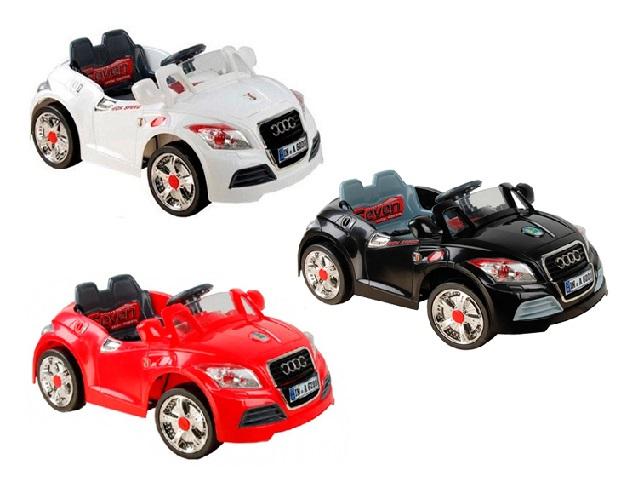 Машина на аккум. 28R (1х6V, 10Ah) с ПУ, цвет: черный, красный, розовый, белый, в. к 118*66*49,5см