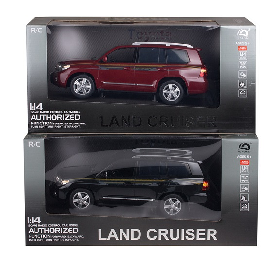 Машина р/у HQ200135 Land Cruiser 1:14 аккум. 3цв. в ассорт. в/к 8/8