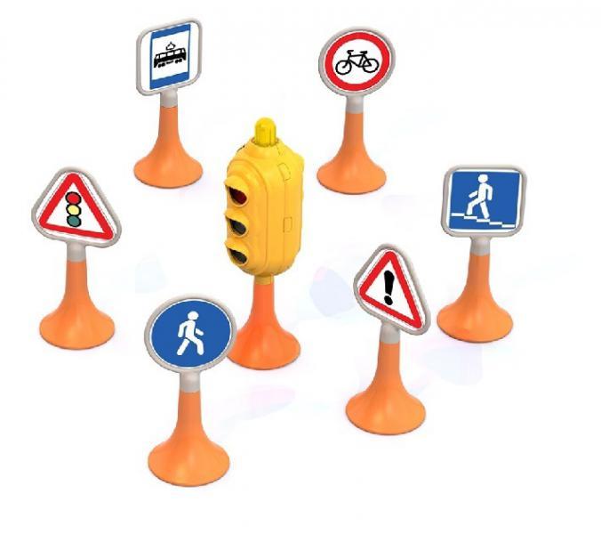 Нордпласт 885 Дорожные знаки №1 (светофор, 6 знаков) 20. 20