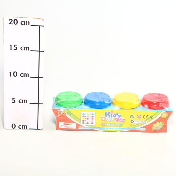 Zhorya Набор пластилина 11043 Kid's Dough 50г, 4шт. 22х6,5х6,5см