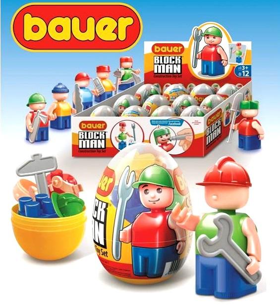 Бауер Конструктор 342 Блок Мен Человечек-конструктор в яйце в ассорт. цена за 1 шт (12шт. уп)