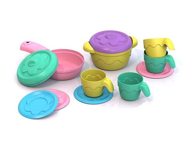 Шкода  ШКД05 Посуда (кастрюля + сковор. + 2 крыш. + 4 чашки + блюдца)
