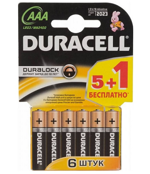 Duracell  AAА LR03 MN2400 BL5+ 1 6. 60