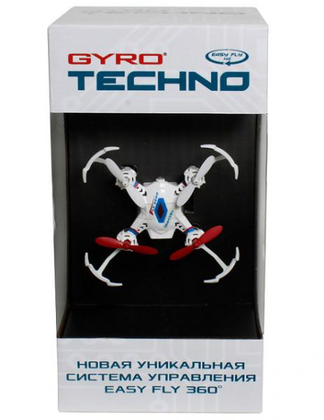 1Toy Gyro-Techno квадрокоптер 2,4GHz 4 канала 4,5х4,5см, 6-осевой, real headless режим Т58981