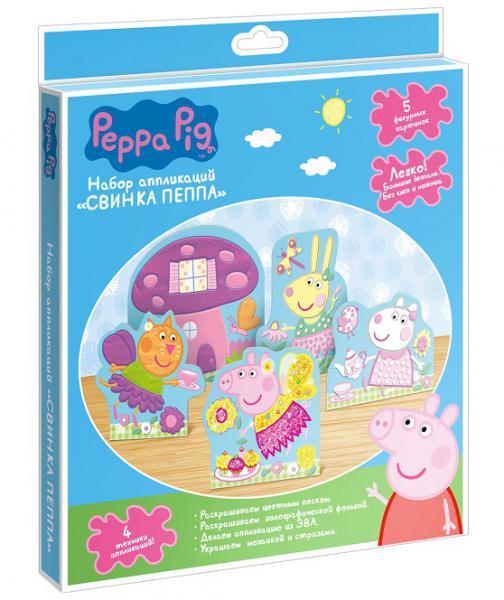 Росмэн  31251 Аппликация, 5 картинок в. к, тм Peppa Pig