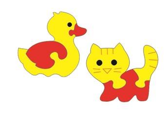 Тедико 45561 Мозаика набор Уточка и котенок
