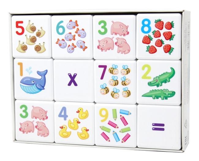 Десятое кор.   Кубики 12шт. 00711 Кубики для умников. Арифметика (без обклейки)