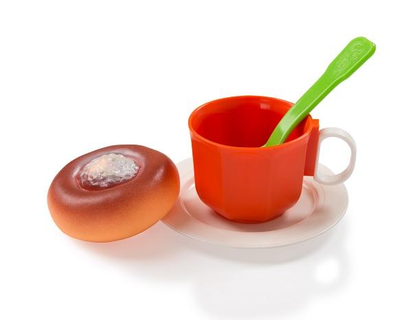 Огонек  Чайный набор с ватрушкой уп-20шт С-1382
