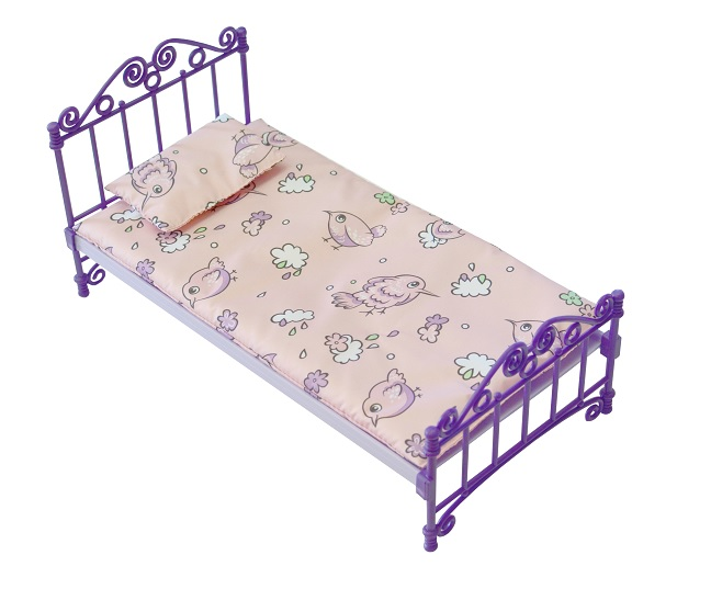Огонек  Кроватка с постельным бельем С-1425 в. п пвх