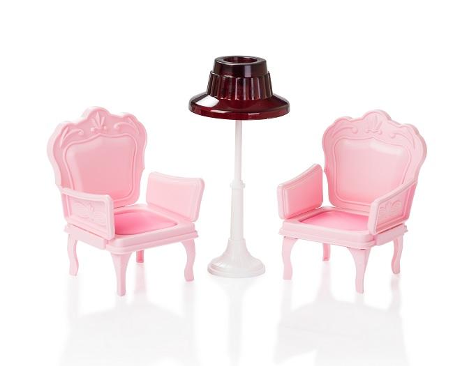 Огонек  Кресла со столиком для куклы, розовые (10шт. уп) С-1394
