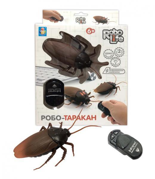 1Toy RoboLife Т10902 Робо-таракан на и. к упр., свет. эффекты, 23. 3х16. 5х5. 2см
