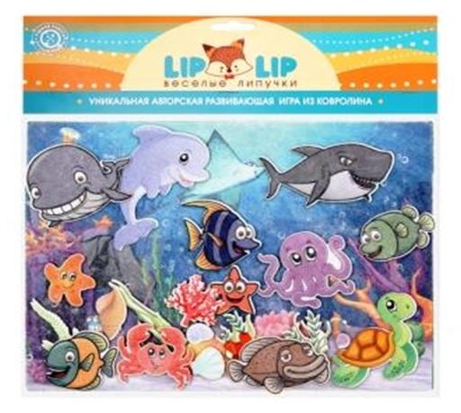 Веселые липучки Lip-Lip  LIP1129 Подводный мир с игровым полем, фетр