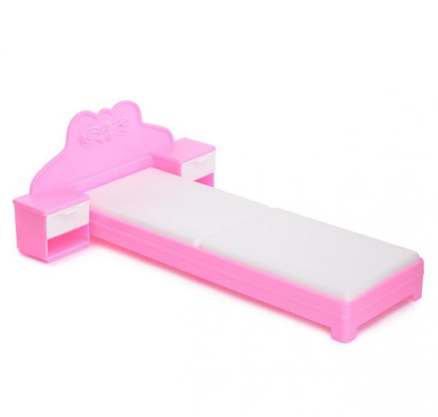 Огонек  Кровать для куклы (розовая) С-1387 уп-16шт