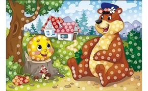 Рыжий кот  Мозаика из пайеток А4+ М-8647 Колобок