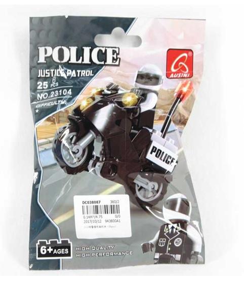 Констр. Ausini  23104 Полиция мотоцикл 25 дет. в. п DC038087 180. 360