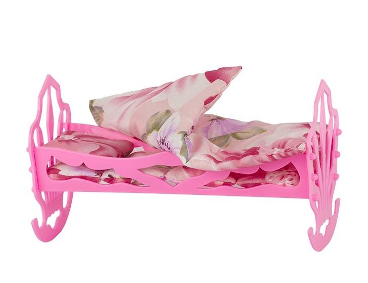 Сов.  Кровать кукольная с комплектом белья (матрас, подушка, одеяло) 4пр. У890 10. 10 в. п