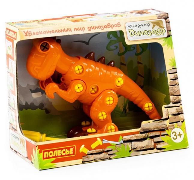 Полесье  77158 Конструктор-динозавр Тираннозавр 40эл. в. к
