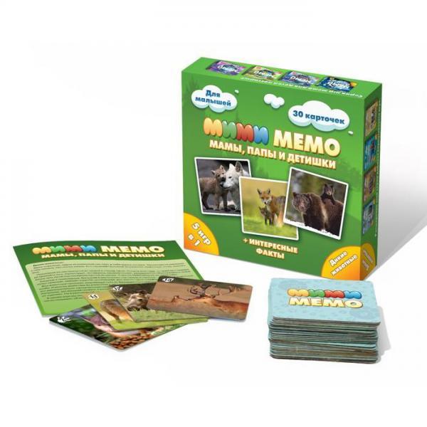 Нескучные игры 8050 Ми-Ми-Мемо Дикие животные 1. 36