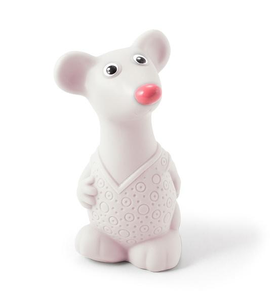 Огонек  Пластизоль игрушка Мышонок белый уп-30шт С-1533