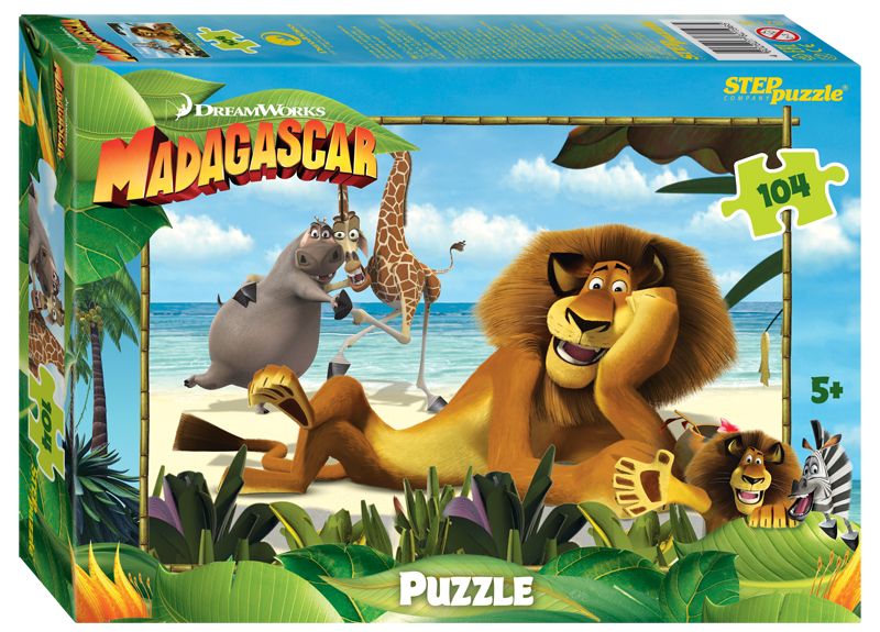 Steppuzzle  Пазлы   104 82196 Dreamworks, Мульти. Мадагаскар - 3