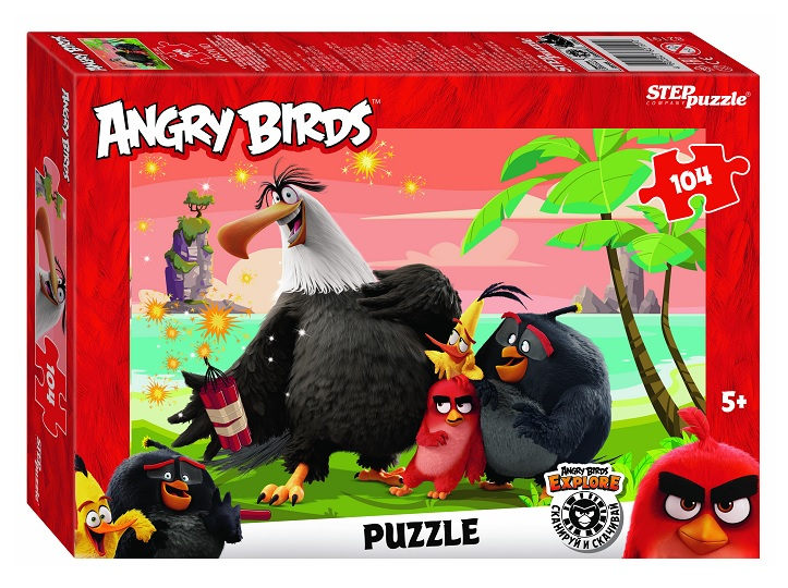 Steppuzzle  Пазлы   104 82191 Rovio. Angry Birds