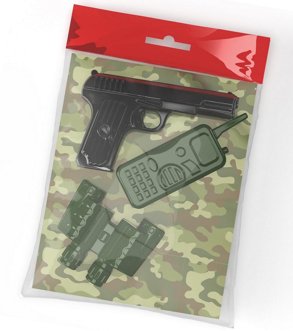 Десятое кор.   Оружие пласт. 02337 Пистолет, рация, бинокль