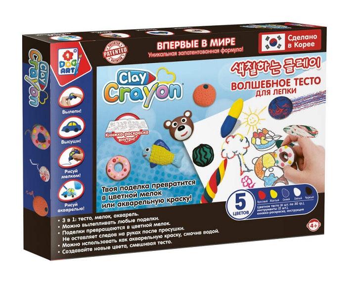 1Toy ART Clay Crayon Т19005 Набор тесто-мелков (5цв. по 30г) в. к 32. 5x23x3. 6см