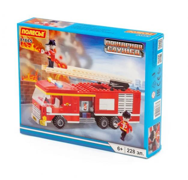 Полесье  81865 Конструктор Классик Город. Пожарная служба-3 228эл. в. к