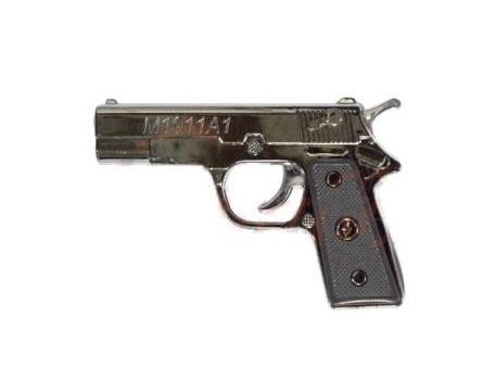Брелок-лазер М1911А1 215 2-в-1 Пистолет бол. 12шт.  уп. цена за шт.
