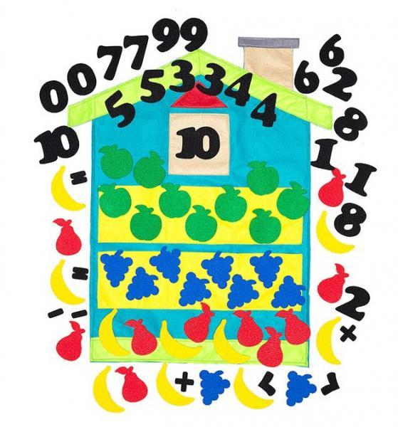 Веселые липучки Lip-Lip  LIP1266 Дом с цифрами фетр