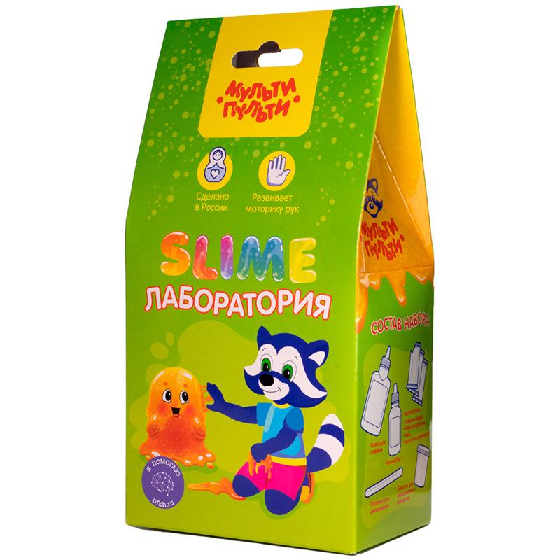 МУЛЬТИ-ПУЛЬТИ  S500-50183 Набор для создания слайма Slime-лаборатория, оранжевый