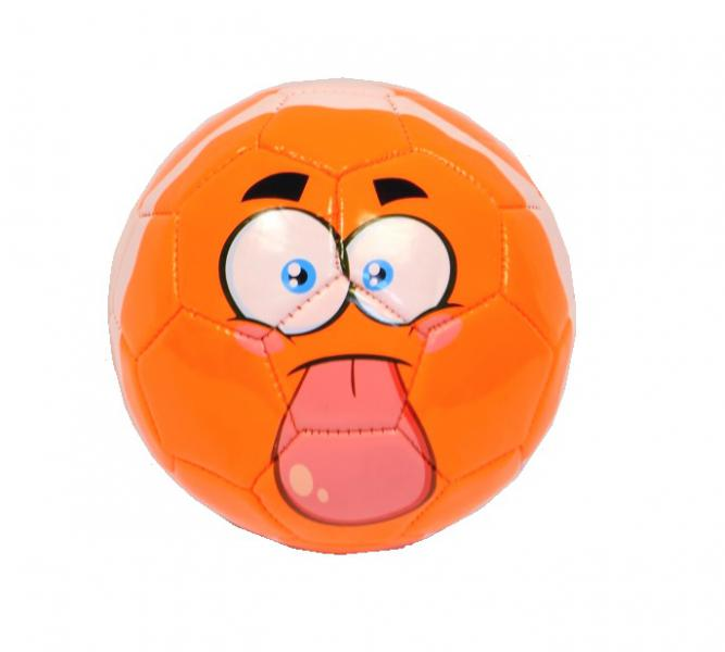 Наш Китай  Мяч футбол. d15см SC168-10 мордочка оранж. в. с EB047193-2