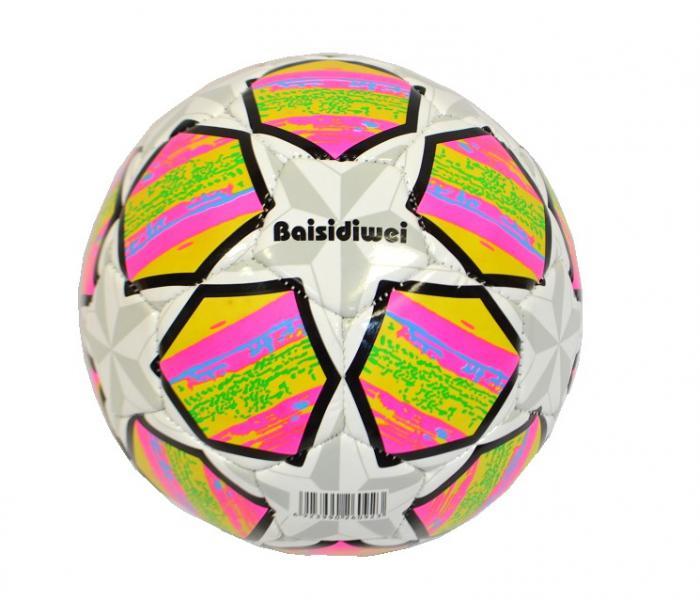 Наш Китай  Мяч футбол. d15см SC168-10 звезда (сер. + малин. ) в. с EB047193-3