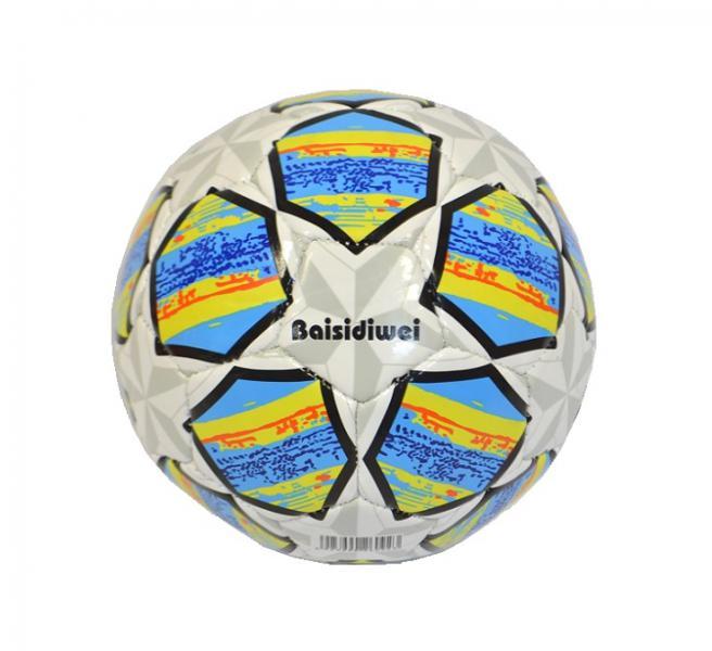 Наш Китай  Мяч футбол. d15см SC168-10 звезда (сер. + голуб. ) в. с EB047193-4