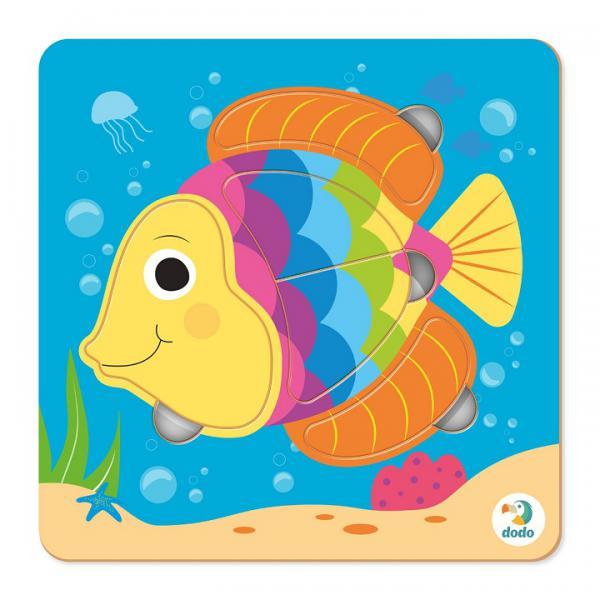 DoDo Пазл-сортер 300362 Рыбка 5эл.