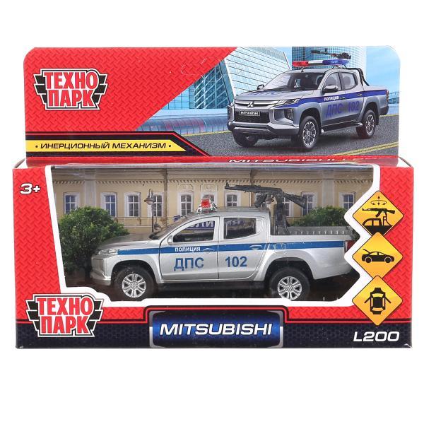 Технопарк мод.  металл. L200-12POL-ARMSR Mitsubishi L200 Pickup Полиция 13см, двери, багаж, в. к в кор. 2*36шт
