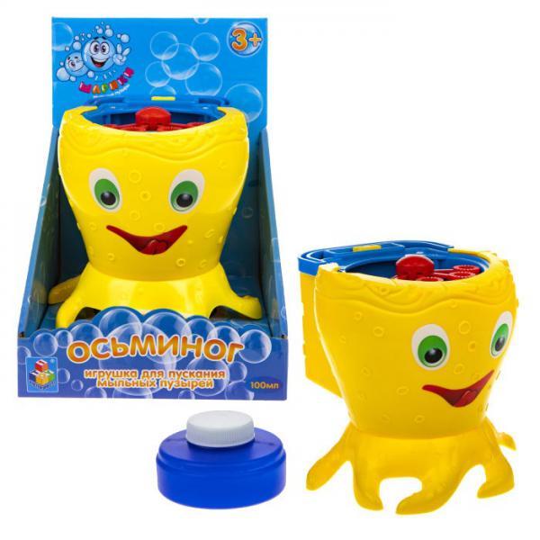 1Toy Мы-шарики! Т19914 Игрушка для пускания мыл. пузырей на бат. (в компл. не входят) Осьминог, 100мл