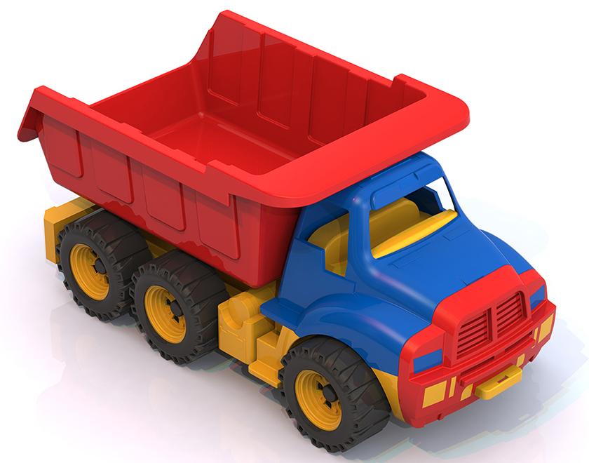 Нордпласт 066 Машина Мишка синяя кабина,  самосвал 1. 8