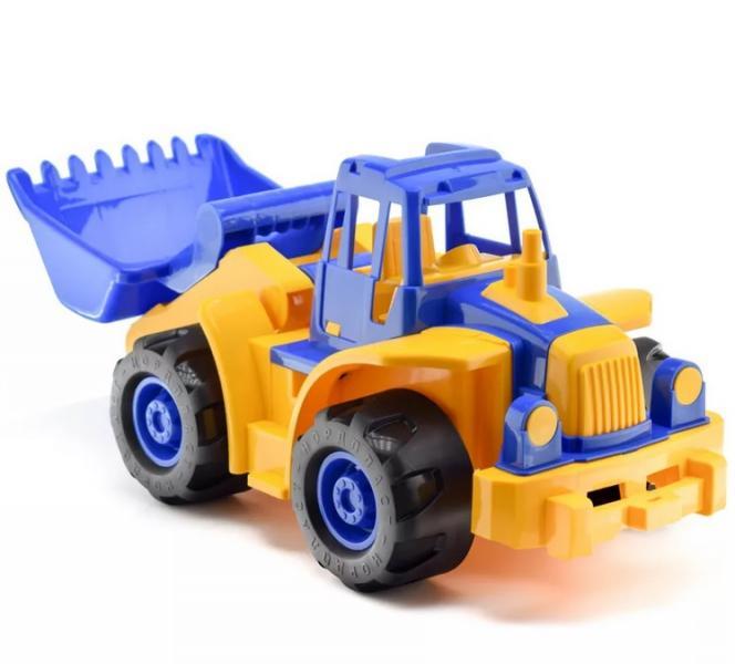 Нордпласт 299 Трактор Богатырь синий мини с грейдером 6шт. кор