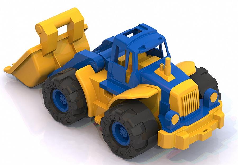 Нордпласт 099 Трактор Богатырь с грейдером синий 1. 6