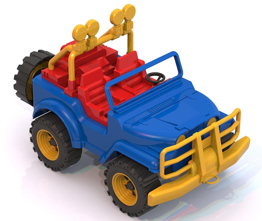 Нордпласт 136 Машина Джип Сафари синий 1. 10