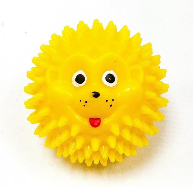 Тех-Пласт  И06002-1 Ежик шарик 65мм желтый