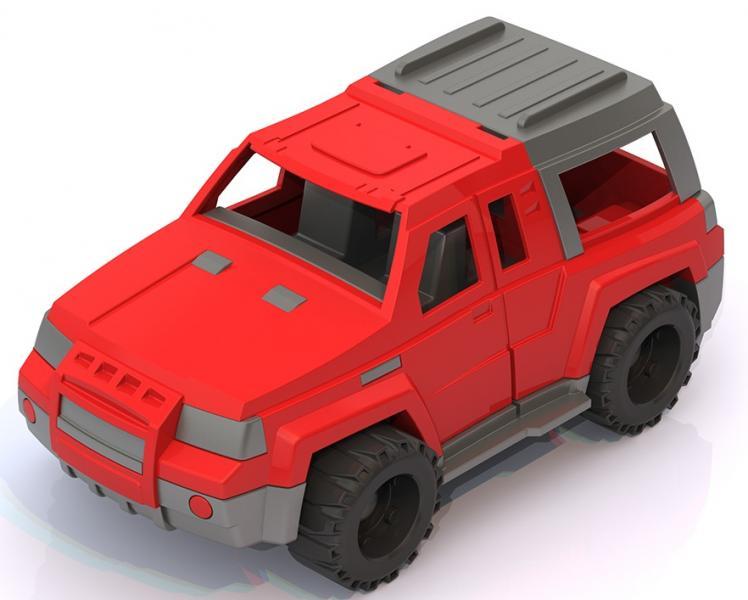 Нордпласт 160. 1 Машина Джип Мустанг красный  1. 36