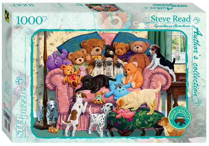 Steppuzzle  Пазлы  1000 79544 Авторская коллекция. Бабушкино кресло