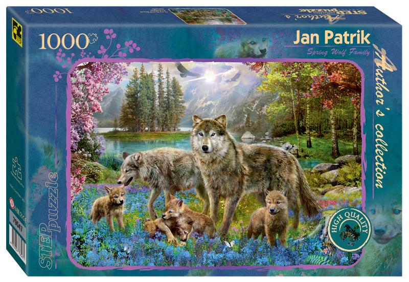 Steppuzzle  Пазлы  1000 79547 Авторская коллекция. Семья волков весной