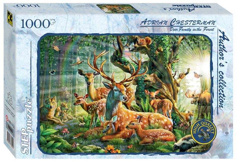 Steppuzzle  Пазлы  1000 79550 Авторская коллекция. Мир лесных животных