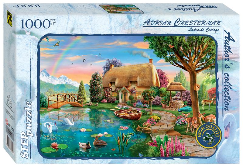 Steppuzzle  Пазлы  1000 79551 Авторская коллекция. Коттедж на берегу озера